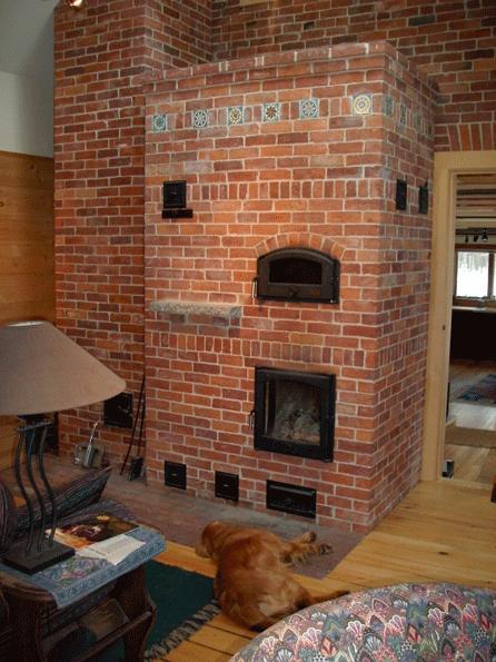Masonry heaters bake ovens maine stone and brick masonry for How to make a brick stove
